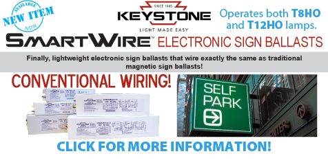 Keystone Electronic Sign Ballasts